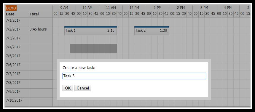 angular4 timesheet quick start project