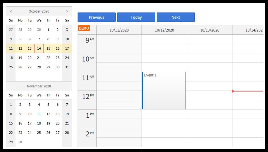 angular calendar date switching tutorial