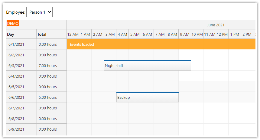 javascript html5 timesheet php mysql