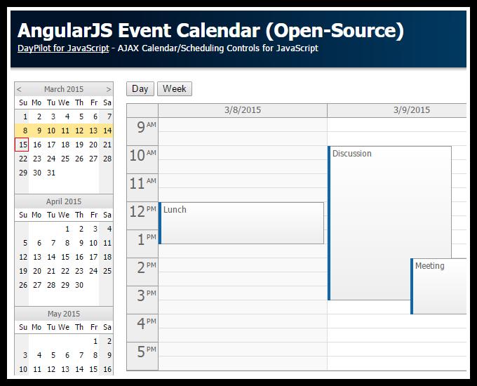 AngularJS Event Calendar (Open-Source)