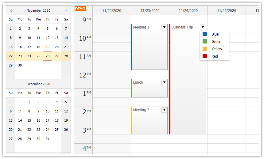 Using JavaScript/HTML5 Event Calendar in Spring Boot (Java)
