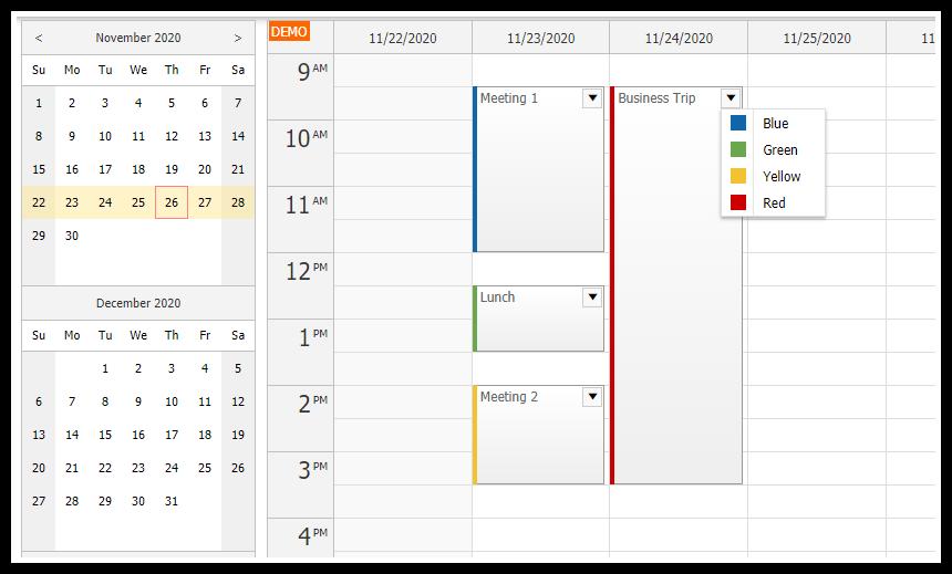html5 javascript event calendar spring boot java