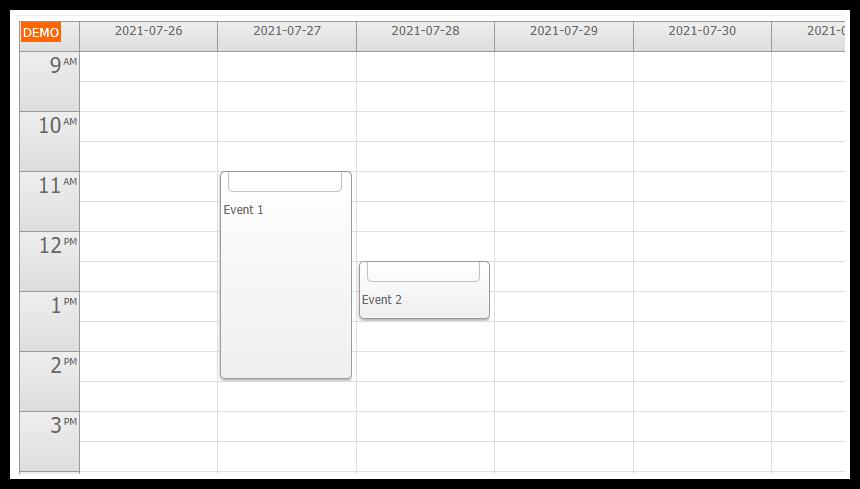 ASP.NET Event Calendar: Touch Gesture Customization