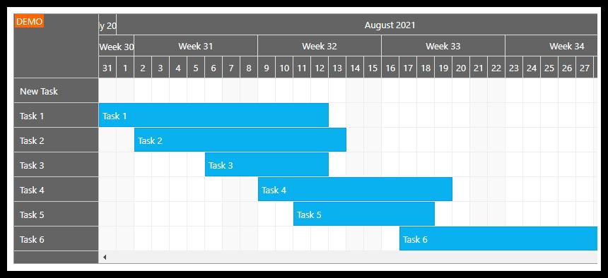 gantt chart asp.net
