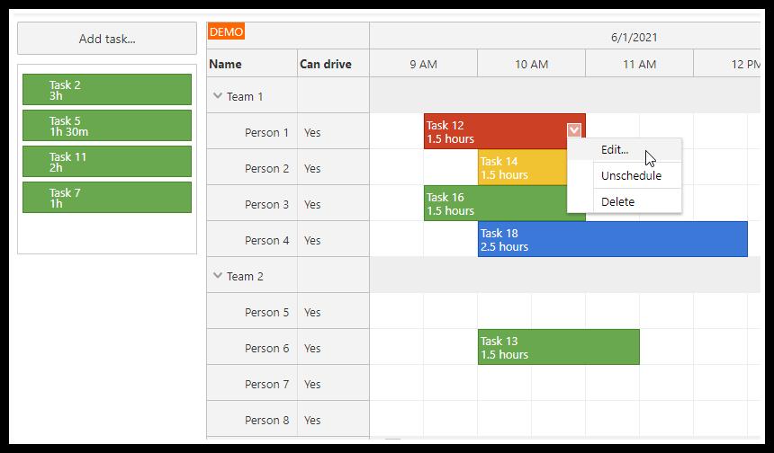 php work order scheduler mysql javascript