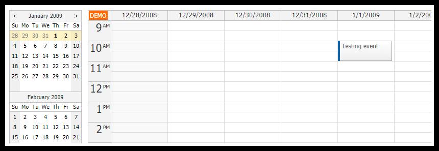 asp.net calendar tutorial navigator integration