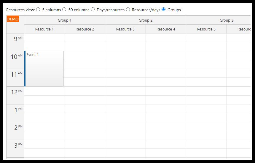 React Resource Calendar