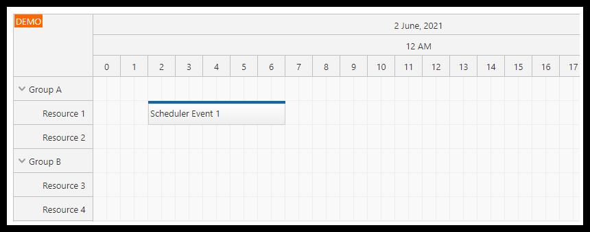 Angular Scheduler: Timeline Customization