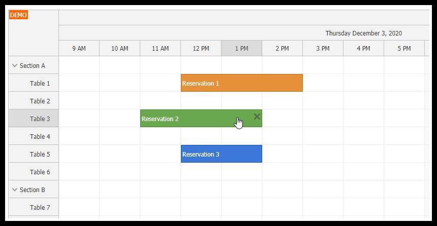 angular 11 scheduler quick start project