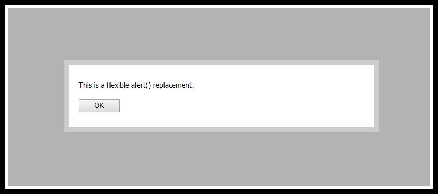 JavaScript alert() Replacement