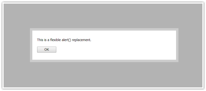javascript alert replacement