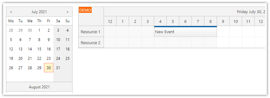 ASP.NET Scheduler and ModalPopupExtender (C#, VB.NET)