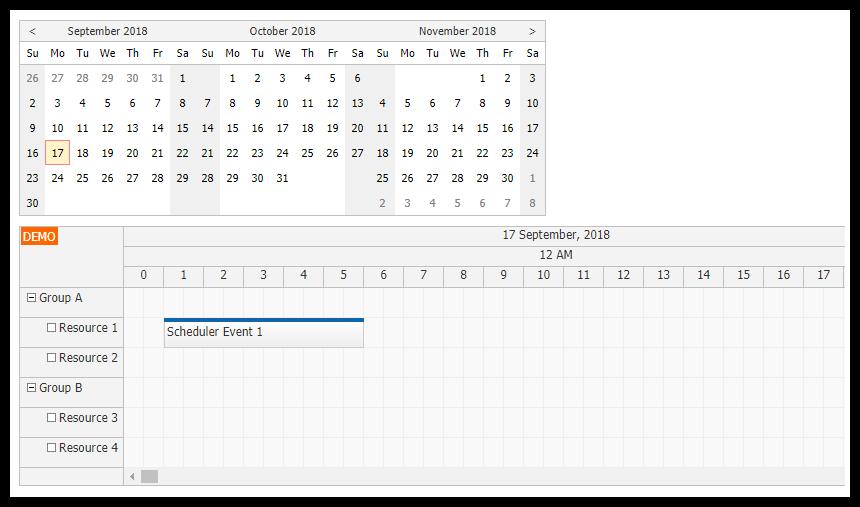 angular scheduler timeline