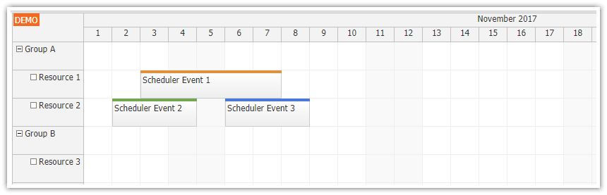 Angular 5 Scheduler Quick Start Project