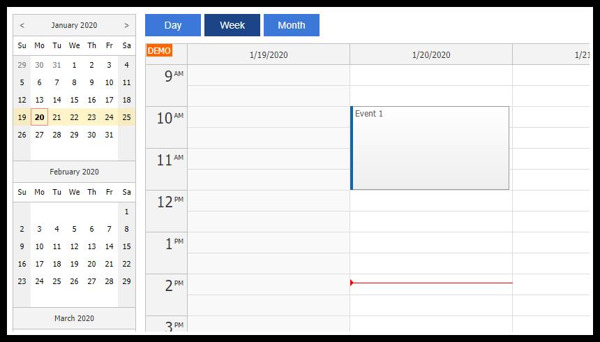 angular calendar component day week month
