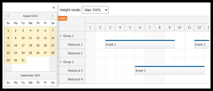 Angular Scheduler: Full Screen Layout