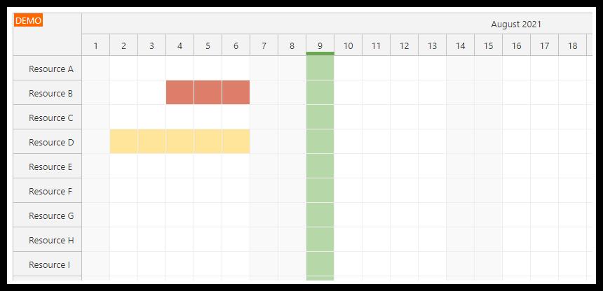 vue scheduler how to display holidays