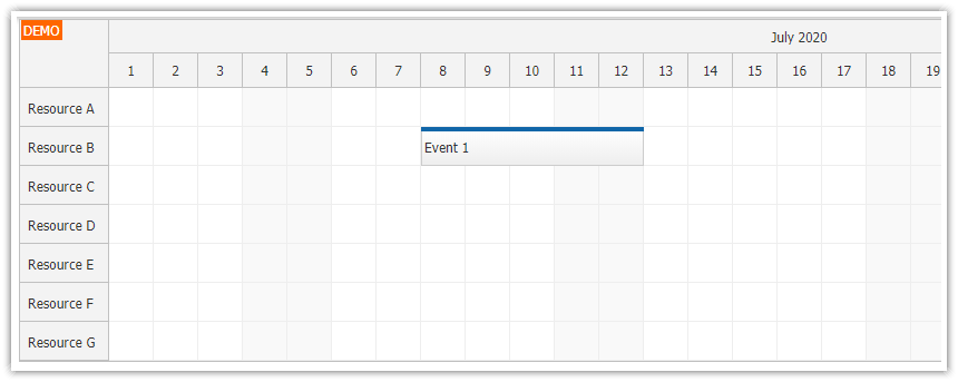 Using JavaScript/HTML5 Scheduler in ASP.NET Core