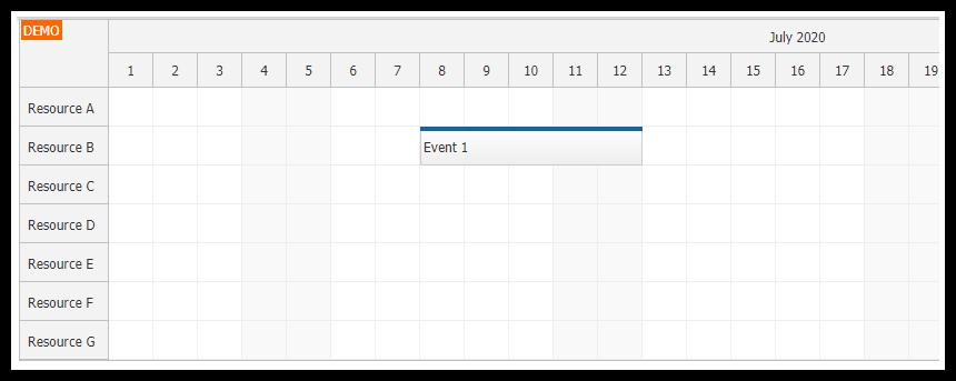 javascript html5 scheduler asp.net core mvc