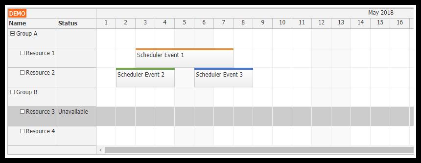 angular 6 scheduler component
