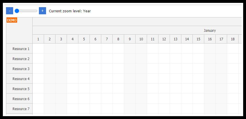 javascript scheduler zoom