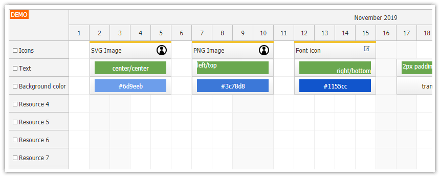 javascript scheduler how to export html to image