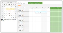 JavaScript/HTML5 Scheduler: Filtering Rooms by Availability