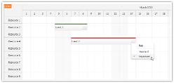 JavaScript Scheduler: Event Types