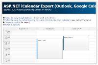 ASP.NET iCalendar Export (Outlook, Google Calendar, Mac OS X Calendar)