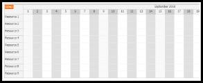 JavaScript Scheduler: Alternate Column Colors