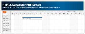 JavaScript/HTML5 Scheduler PDF Export (Paged by Month)
