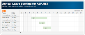 Annual Leave Booking (ASP.NET, C#, VB, SQL Server)