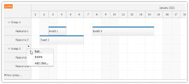 Angular Scheduler: Resource Management