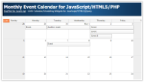 Monthly Event Calendar for JavaScript/HTML5/PHP
