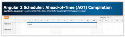Angular 2 Scheduler: Ahead-of-Time (AOT) Compilation