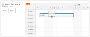 JavaScript Scheduler: Events as Drag and Drop Target