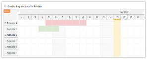 JavaScript Scheduler: Displaying Holidays