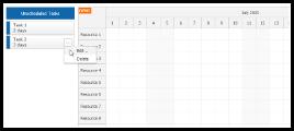 JavaScript Scheduler: Context Menu for External Items