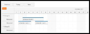Angular Scheduler: Next/Previous Buttons