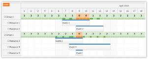 JavaScript Scheduler: Displaying Group Availability