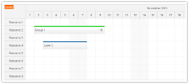 JavaScript Scheduler: Expandable Event Groups
