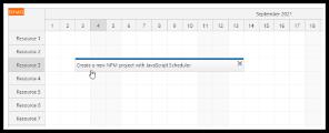 JavaScript Scheduler NPM + WebPack Project