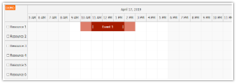 JavaScript Scheduler: Warm-Up and Cool-Down Time