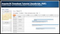 AngularJS Timesheet Tutorial (JavaScript, PHP)
