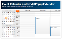 Event Calendar and ModalPopupExtender (C#, ASP.NET)