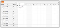 JavaScript Scheduler: Show/Hide Columns using Context Menu