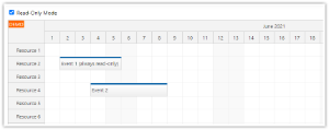 JavaScript Scheduler: Read-Only Mode