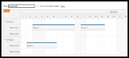 Angular Scheduler: Row Filtering