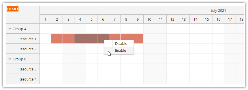 angular scheduler enable time slots using drag and drop
