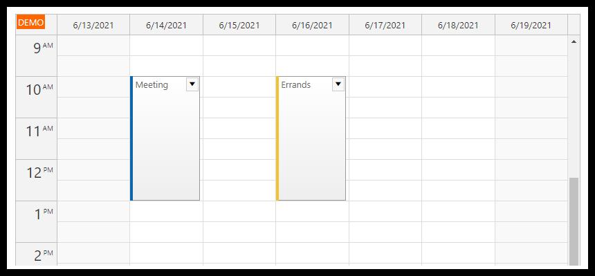 html5 javascript event calendar spring boot java loading data